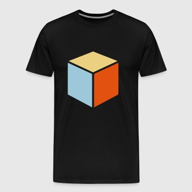 CUBE / DICE - Platonic Body - Men's Premium T-Shirt
