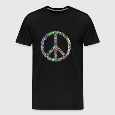 Peace Love hippie pasifist - Premium T-skjorte for menn