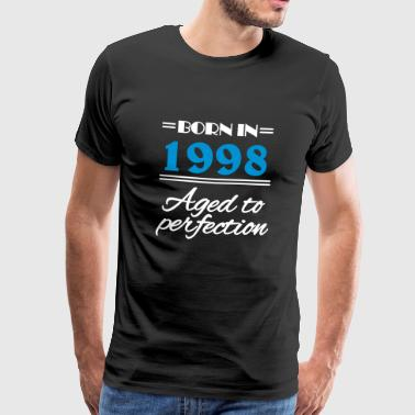 Født i 1998 aged to perfection - Premium T-skjorte for menn