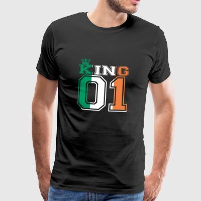 pays couple 01 roi prince Irlande - T-shirt Premium Homme