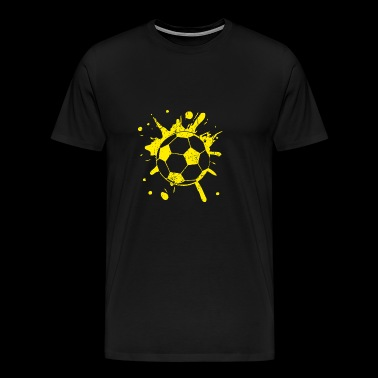 Football Splash yellow - Men's Premium T-Shirt