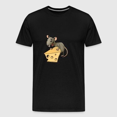 rongeur souris Fiese vermine rongeur souris fromage - T-shirt Premium Homme