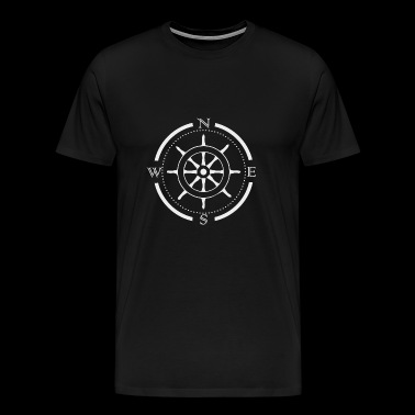 Compass wheel ship gift - Men's Premium T-Shirt
