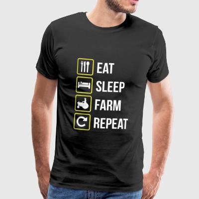 Eat Sleep Farm Gentag - Herre premium T-shirt