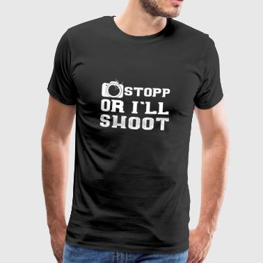 Photographer profession t-shirt gift funny - Men's Premium T-Shirt