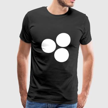 Circles black - Men's Premium T-Shirt