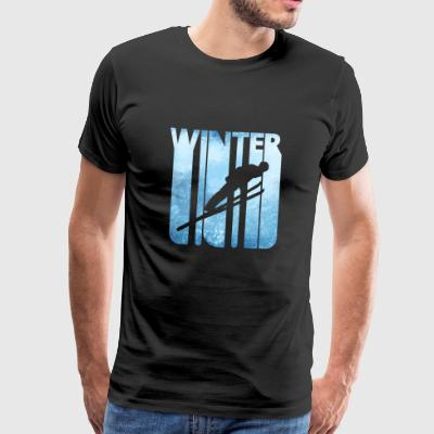 Vintage Winter Holiday Skiing. Gifts for Birthday - Men's Premium T-Shirt