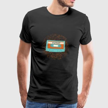 Retro Vintage Cassette Tape for Music Lovers - Men's Premium T-Shirt