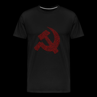 Russian sayings. Hammer and sickle with text - Men's Premium T-Shirt