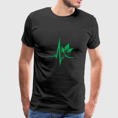 Vegan Tshirt Heartbeat Nature Friend Gift - Men's Premium T-Shirt