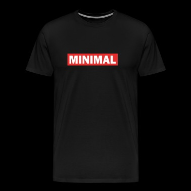 Minimal - Techno electro music - Men's Premium T-Shirt