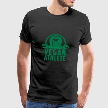 Vegan Athlete Muscle Gorilla Gift - Men's Premium T-Shirt