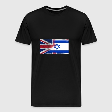 British Israeli Half Israel Half UK Flag - Men's Premium T-Shirt