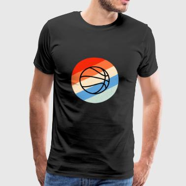 Ball Basketball Retro og Vintage - Herre premium T-shirt