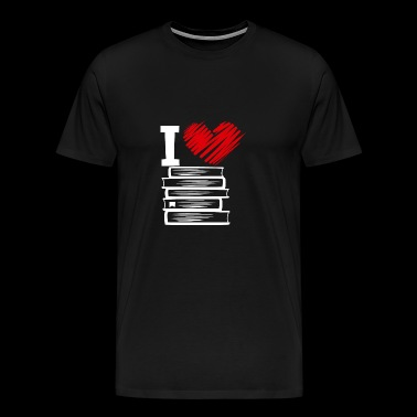 I Love Books - I love books gift book - Men's Premium T-Shirt