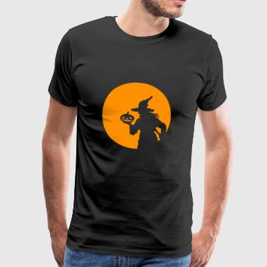 Halloween witch moon moonlight full moon - Men's Premium T-Shirt