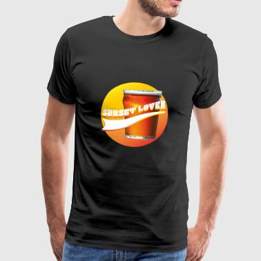 Sunset Lover - Sunset - Premium-T-shirt herr