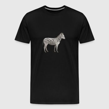 low poly zebra - Men's Premium T-Shirt