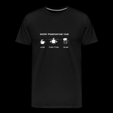 Helikopter Militær Min Perfect Day - Herre premium T-shirt