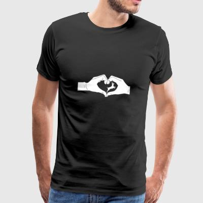 Heart hands deer - Men's Premium T-Shirt