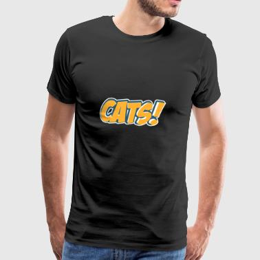 Comic Style Shirt Cats Cats - Men's Premium T-Shirt