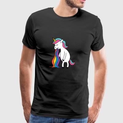 Unicorn rainbow puke. No buck Gagging - Men's Premium T-Shirt