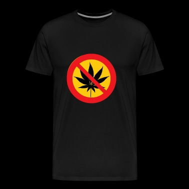 Cannabis Marijuana Weed Forbidden Contra NO - Men's Premium T-Shirt