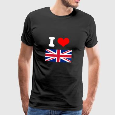 I love UK UK motif gift idea - Men's Premium T-Shirt