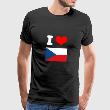 I love Czech Republic motif design as a gift idea - Men's Premium T-Shirt