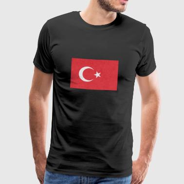 Turkey Flag Motif Design Gift Idea Cool - Men's Premium T-Shirt