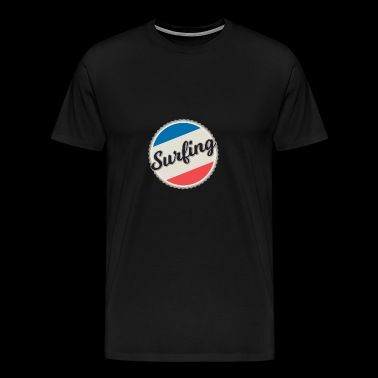surfing, surfing, - Men's Premium T-Shirt