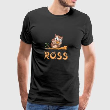Owl Ross - Premium T-skjorte for menn