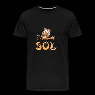 Owl sol - Men's Premium T-Shirt