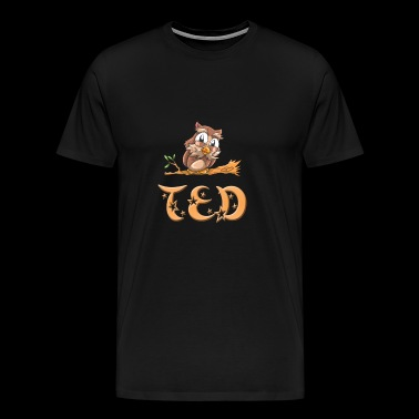 Owl Ted - Premium T-skjorte for menn