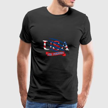 USA - Premium T-skjorte for menn