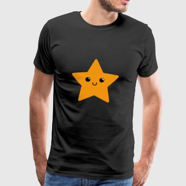 SWEET STAR - Smiling star in orange - Men's Premium T-Shirt