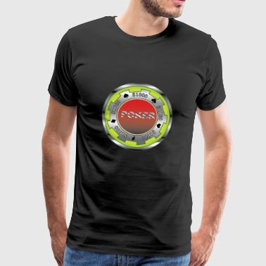 Poker chip emblem - Men's Premium T-Shirt