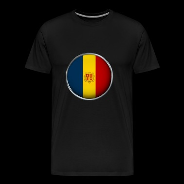 Andorra flag 3D - Men's Premium T-Shirt
