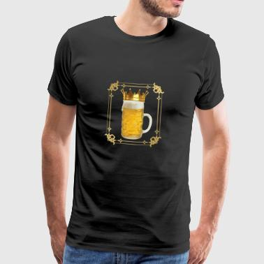 Beer Party King Crown Gift Custom Mug Drinking Game - Men's Premium T-Shirt