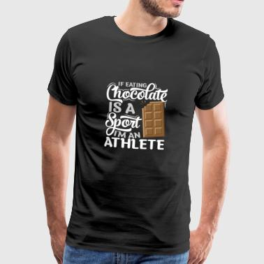 Athletic chocolade-eters - Mannen Premium T-shirt
