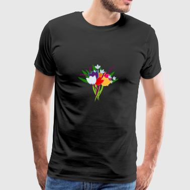 Bouquet of tulips - Men's Premium T-Shirt
