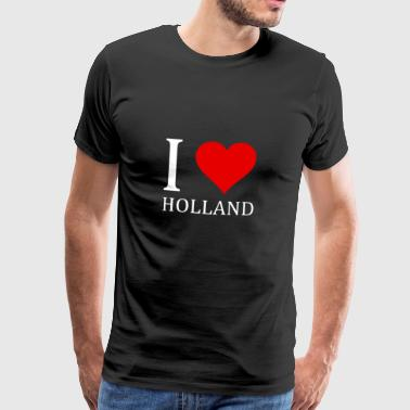 I love Holland shirt design - Men's Premium T-Shirt