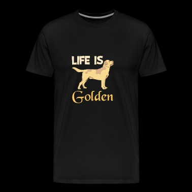 Het leven is Golden Retriever Dieren Shirt - Mannen Premium T-shirt