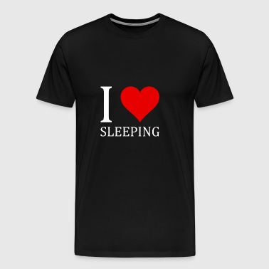 I love sleeping - Men's Premium T-Shirt