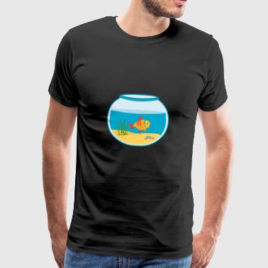Goldfish fishbowl Aquarium - Mannen Premium T-shirt