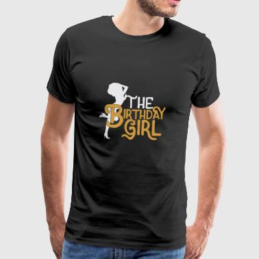 The Birthday Girl Afro Funny Gift - Men's Premium T-Shirt