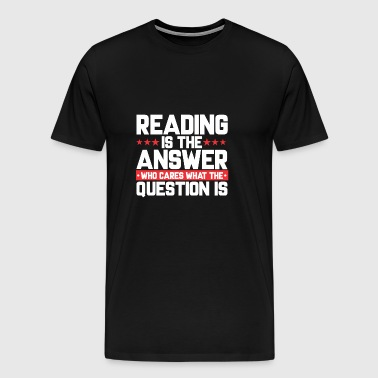 READ READING BOOKSHOP: READING IS THE ANSWER - Men's Premium T-Shirt