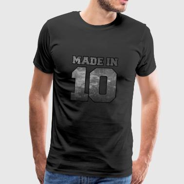 Made in 2010 College Textur - Männer Premium T-Shirt