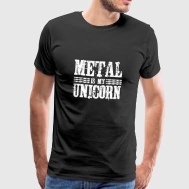 Metal is mijn unicorn - Fun Hoodie Gift - Mannen Premium T-shirt