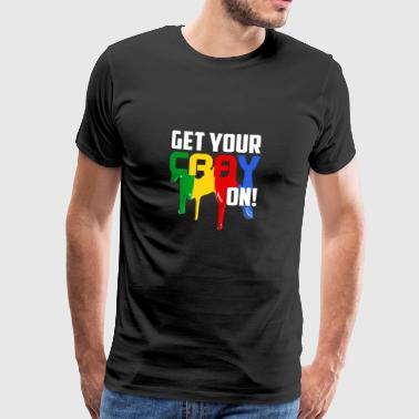 Kids Get Your CrayON Gift - Men's Premium T-Shirt